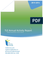 TLE Annual Activity Report 2015 2016