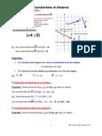 coordonnées et distance (anc prog - 3ème-)