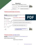 equations (anc prog - 3ème-)