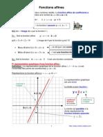 fonctions affines (anc prog - 3ème-)