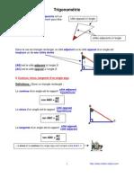 trigonometrie  (anc prog - 3ème-)