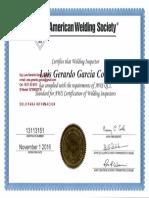 Certificado  GERARDO