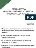 Pruebas Para Generadores de Numeros Pseudo-Aleatorios