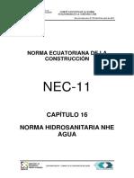Nec2011 Cap 16 Norma Hidrosanitaria Nhe Agua 021412