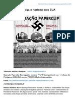Operação Paperclip o Nazismo Nos EUA