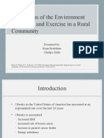 perceptions of the environment for eating and exercise in a rural community