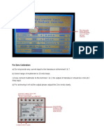 Quick Manual for Current Transducer Calibration