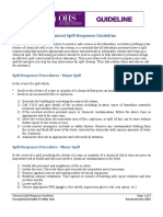 Chemical Spill Response Guideline