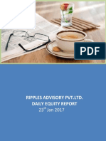 Ripples Advisory Pvt.Ltd. Daily Equity Report 23th Jan 2017