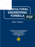 Agricultural Engineering - List of Formulas.pdf