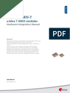 UART GPS NEO-7M-C (B)_MAX7-NEO7 Hardware Integration Manual