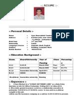Resume Mansukh Vyas