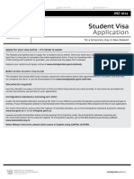 INZ 1012 Student Visa Application 2016