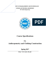 Anthropometry and Clothing Construction