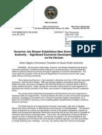 Governor Jan Brewer Establishes New Arizona Commerce Authority