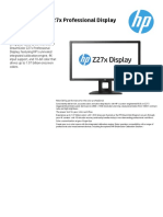 HP DreamColor z27x Datasheet
