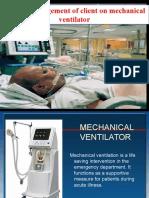 Nursing Care of Ventilated Patient