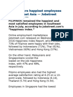 Filipinos are happiest employees in Southeast Asia.doc