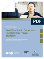 Best Practice in Supervisor Feedback to Thesis Students