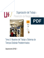 Tema 5 Muestreo Del Trabajo y Sistemas de Tiempos Estándar Predeterminados(1)