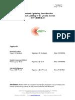 Sample SOP of Internal Audit of a Process