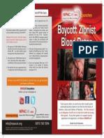 Zionist Blood Dates Leaflet