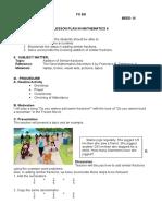 Semi-Detailed Lesson Plan in MATH