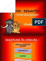 Joc Didactic-Interdisciplinar Cl.V