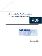 Recover Point Implementation Lab Guide Supplementv3.2
