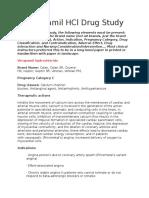 Verapamil HCl Drug Study