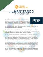Carta Presentación #VJBioética