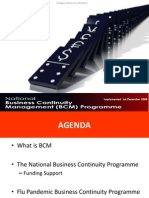 Singapore Business Federation Touw June Wah presents the National BCM Program in Singapore