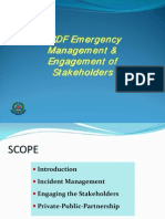 Col. Anwar Abdullah presents SCDF Emergency Management & Engagement of Stakeholders