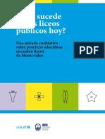 Aristimuño, Adriana_Qué Sucede en Los Liceos Públicos Hoy_Una Mirada Cualitativa Sobre Prácticas Educativas en Cuatro Liceos de Montevideo