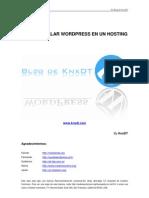 Como instalar wordpress en un hosting