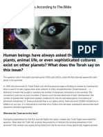 Torah and Aliens