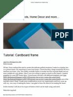 Tutorial_ Cardboard Frame _ Potpourri Blog