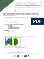 nova evolution lab worksheets