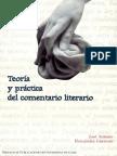 Teoria y Practica Del Comentario Literario