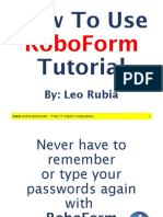 Leo Rubia_RoboForm Tutorial