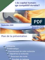 2009 Gestion Du Capital Humain