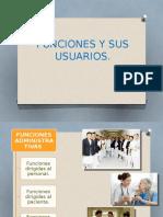 Funciones y Sus Usuarios Del Depto. de Enfermeria