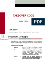 Takeover Code GNLU October 7 2016