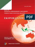 Buletin Statistik Perdagangan Luar Negeri Ekspor Menurut Komoditi HS Desember 2014