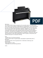 Digital Piano Summaries