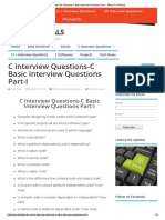 C Interview Questions-C Basic Interview Questions Part-I - BALUTUTORIALS