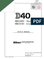 NIKON-D40 service manual.pdf