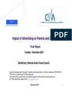 Impact of Advertising on Parents and Children