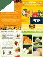 Folleto Comer Verd.yfrutas 2010