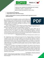 Subiect ComperComunicare EtapaI 2016 2017 ClasaVIII